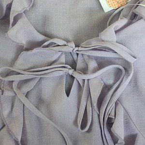 Gianni Bini Tops - Gianni Bini Lavender Ruffle Top